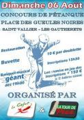 Concours de pétanque à Saint-Vallier