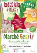 Marché festif des producteurs locaux à Chenôves ( prés de Saint-Boil)
