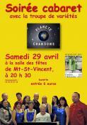 Rappel - Soirée cabaret avec  Planète Chansons à Mont Saint-Vincent (Sortir)