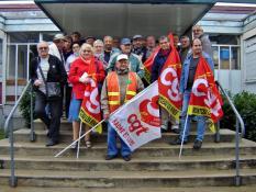 Les retraités CGT du bassin minier à la rencontre de leur député (Politique - social)