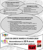 Grève dans l'Education Nationale 'Saône-et-Loire - Social)