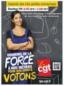 La CGT appelle les salariés des Très Petites Entreprises à voter !