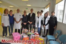 Comité des fêtes de Sanvignes au centre hospitalier Jean Bouveri