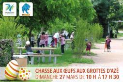 Chasse aux œufs dans le parc des Grottes d'Azé