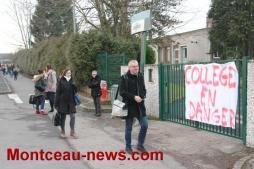Collège Copernic à Saint-Vallier, les parents d'élèves ne désarment pas
