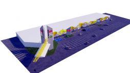 Economie - Centre commercial de la 9ème à Montceau...