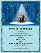 """Concert du groupe """"Paroles et Musique""""  le dimanche 14 mai (Sortir)"""
