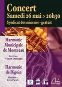 Harmonie Municipale de Montceau et l'Harmonie de Digoin  en concert