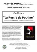 """""""La Russie de Poutine"""" (Conférence)"""