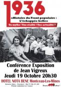 """""""Le Front populaireMythe, réalité et actualité"""" (Montceau)"""