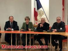 Voir notre vidéo - Après le rassemblement de défense du centre hospitalier de Montceau....