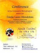 Conférence ce samedi 1er octobre 2016 à Sanvignes