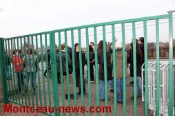 Manifestation - Collège Copernic (Saint-Vallier), après l'opération «collège mort»
