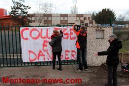 Manifestation – Collège Copernic (Saint-Vallier), toujours dans l'action