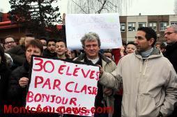 Manifestation – Collège Copernic à Saint-Vallier, les actions se poursuivent