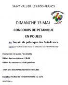 Concours de pétanque en poules (Saint-Vallier)
