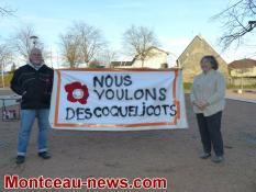 """""""Présence de """"Coquelicots"""" sur le marché de Montceau (Environnement)"""