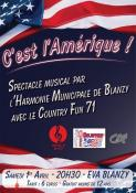 Harmonie municipale de Blanzy avec le Country Fun 71