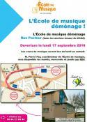 L'école de musique de Saint-Vallier déménage...