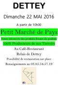 """""""Petit marché de pays"""" à Dettey (Sortir)"""