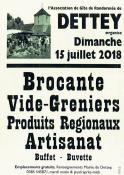 Brocante - vide-greniers - produits régionaux et artisanat à Dettey (Sortir)