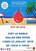 Don du sang (Ciry-le-Noble)