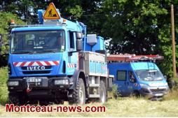 Rupture d'une ligne à haute tension à Saint-Vallier