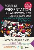 Soirée de présentation de la saison culturelle 2019/2020 à l'ECLA!