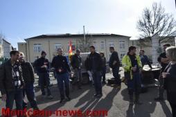EDF en grève depuis janvier, piquet de grève à Montceau