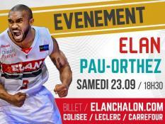 BASKET (Pro A) :  «Elan Chalon - Pau Orthez»