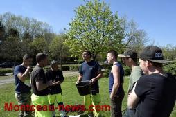 Les élèves du LPA d'Etang au parc St Louis (Montceau)