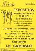 Exposition d'artisanat Indien, Africain, Sud Americain