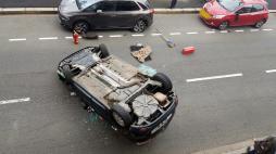 Spectaculaire accident de  ce lundi matin à Montceau