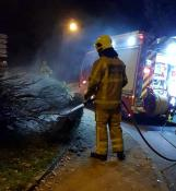 Incendie volontaire à Sanvignes, ce dimanche soir