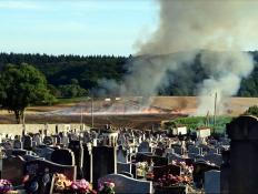 Suite du feu de champ  à Saint-Vallier