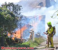 Faits divers - feu d'habitation à Sanvignes