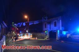 Très grave incendie, cette nuit à Montceau....VOIR NOTRE VIDEO