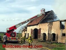 Faits divers - feu dans une exploitation agricole de  Saint Bérain-sous-Sanvignes ...
