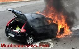 Réactualisé – Voir la vidéo - Feu de voiture, ce dimanche matin à Blanzy...