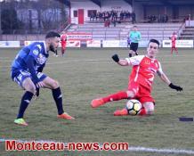 Score final  -  AS Yzeure : 0 - FC Montceau : 1