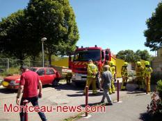 Evacuation, ce samedi après-midi,  de la résidence des Tilleuls à Saint-Vallier
