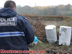 """Fûts de produits toxiques """"abandonnés"""" à Montceau"""