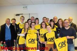 Féminines USGM-FCG (Génelard, Foot): le Crédit Agricole offre un jeu de maillots à l'équipe féminine mais pas que…