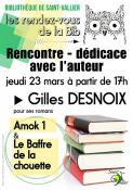 Gilles Desnoix à l'ECLA (Dédicace)