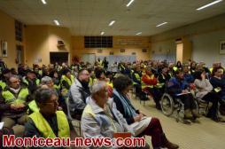 Les gilets jaunes du Magny invités par Mme Jarrot, maire de Montceau