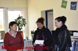 «Bien être en Oncologie» reçoit un chèque de l'AS duGolfdeMontceau