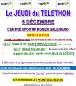 Les Hirondelles Montcelliennes participent au téléthon