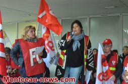 Réactualisé  : Journée d'action de la fonction publique à Montceau (VOIR LA VIDEO)