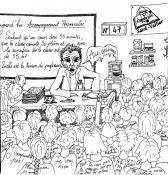 Humour – Collège Copernic à Saint-Vallier, avant la grève de jeudi