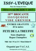 """18ème brocante Issyquoise et fête de la """"Treuffe"""""""